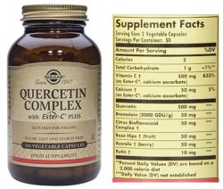 Solgar Quercetin Complex 100 Vegetable Capsules
