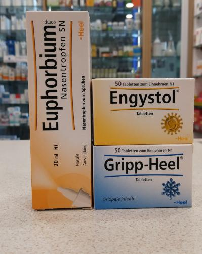 Engystol Heel Bundle (Engystol N 50 Tablets , Gripp-Heel 50 Tablets and Euphorbium Nasal Spray)