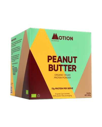 Motion Nutrition Organic Vegan Peanut Butter Protein 12x25G Sachets