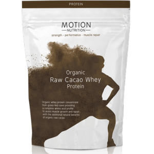 Motion Nutrition Organic Raw Cacao Whey Protein